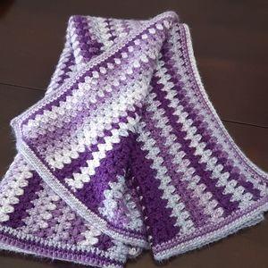 Crocheted Heavy Weight Blanket/shawl